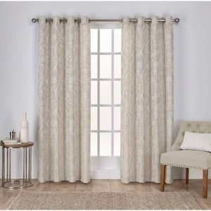 Exclusive Home Lamont Jacquard Curtains- 2 panels
